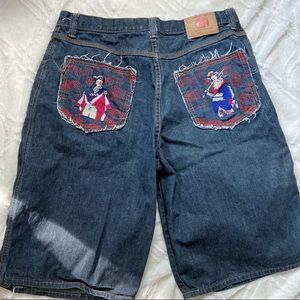 Red Monkey Company Style Jean Shorts Embroidered